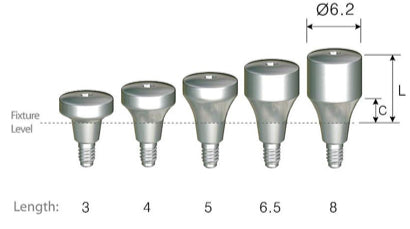 DIO SM Wide Healing Abutments