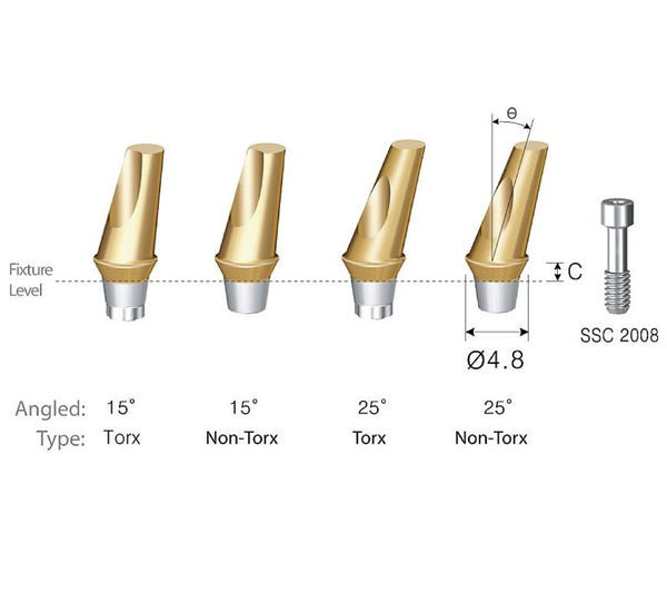 DIO SM Regular Angled Abutment 4.5 5.0