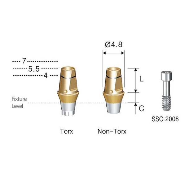 DIO SM Regular Platform Cemented Abutments