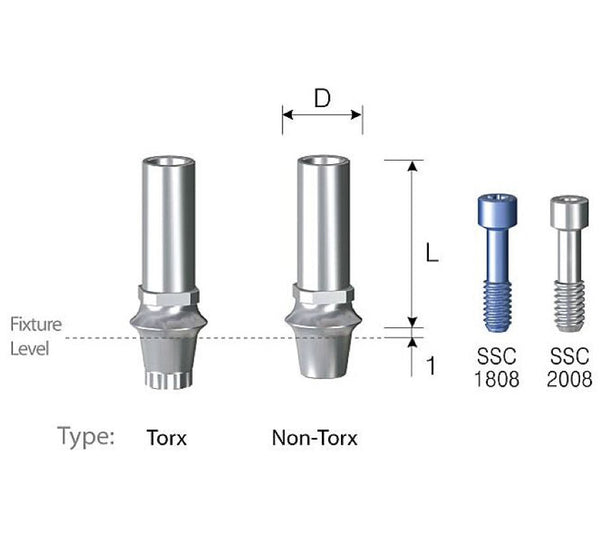 DIO SM Temporary Abutments
