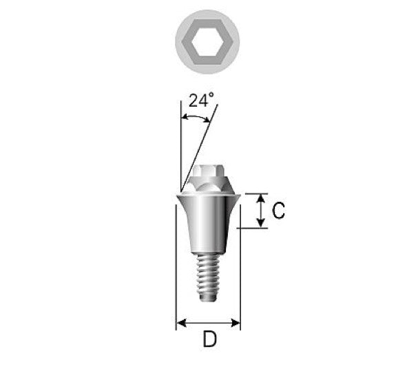 DIO UF (II) Conical Abutment