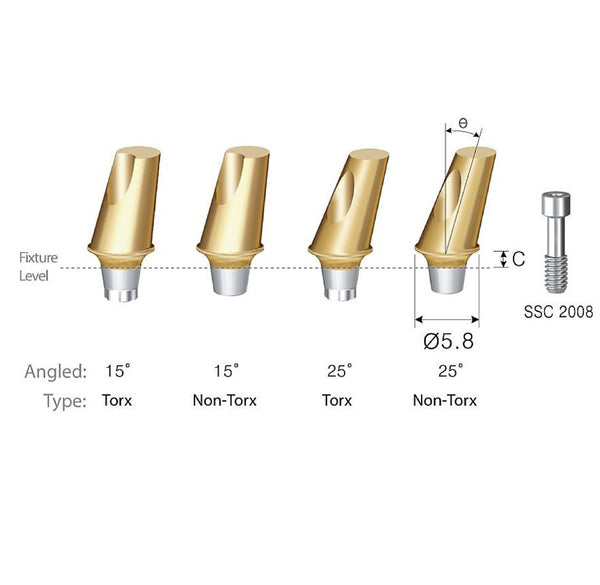 DIO SM Wide Angled Abutment 5.3
