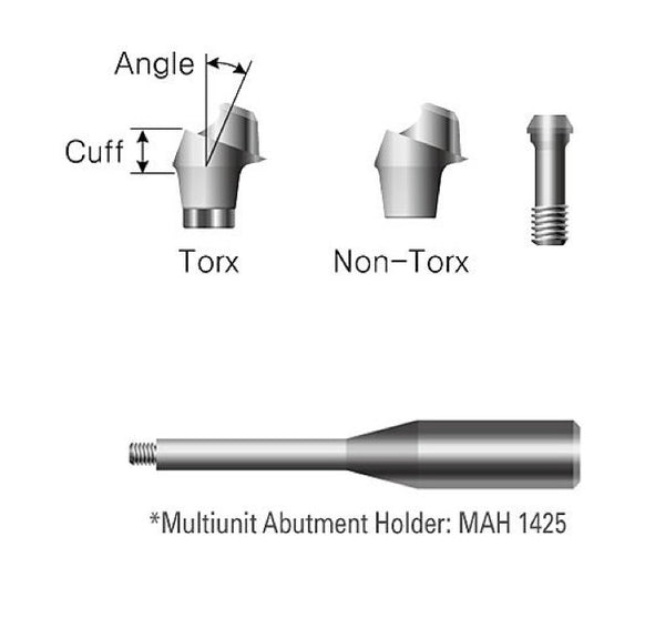 DIO SM Regular / Wide Multiunit Abutment (4.5, 5.0, 5.3)