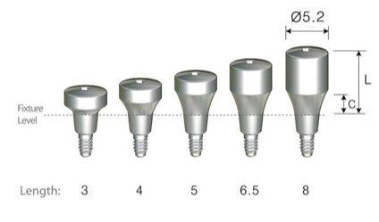 DIO SM Narrow Platform Healing Abutments