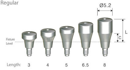 DIO SM Regular / Wide Healing Abutments