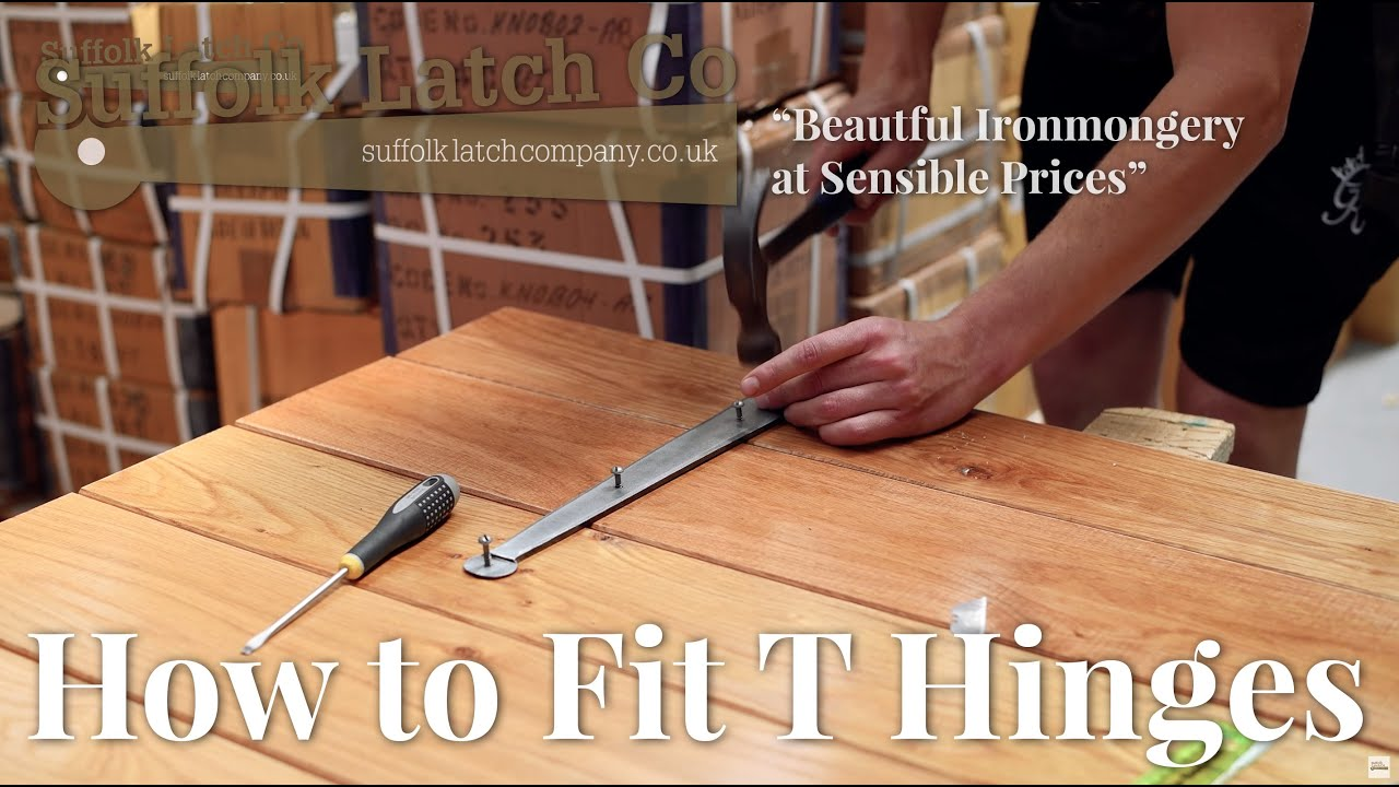 Video Guide: How To Fit T Hinges