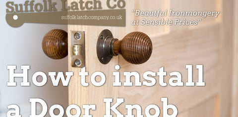 How to Install a Beehive Door Knob | Rosewood & Ebonized Antique ...