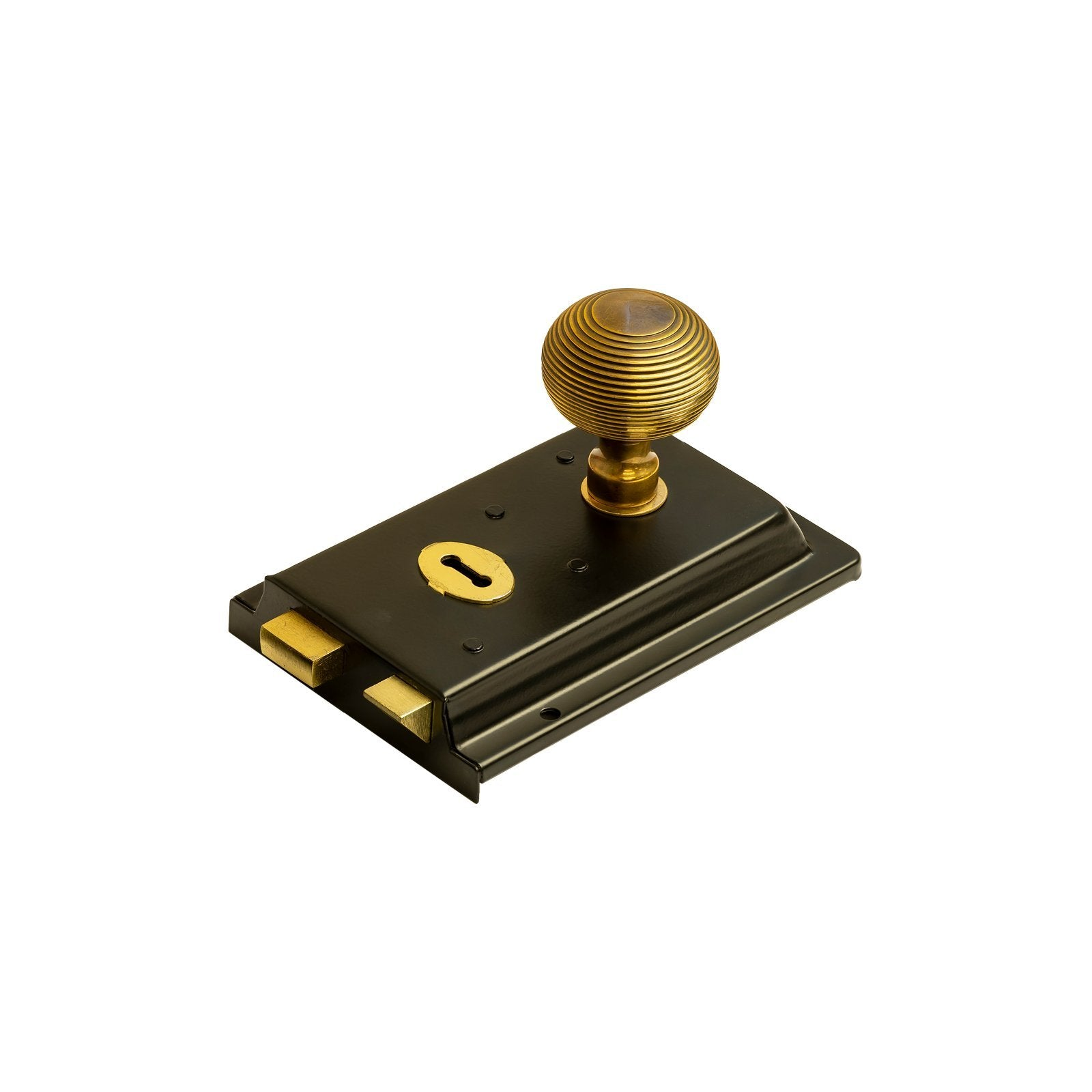 victorian rim locks, victorian door locks, Rim Locks in Black Finish and Brass Fittings