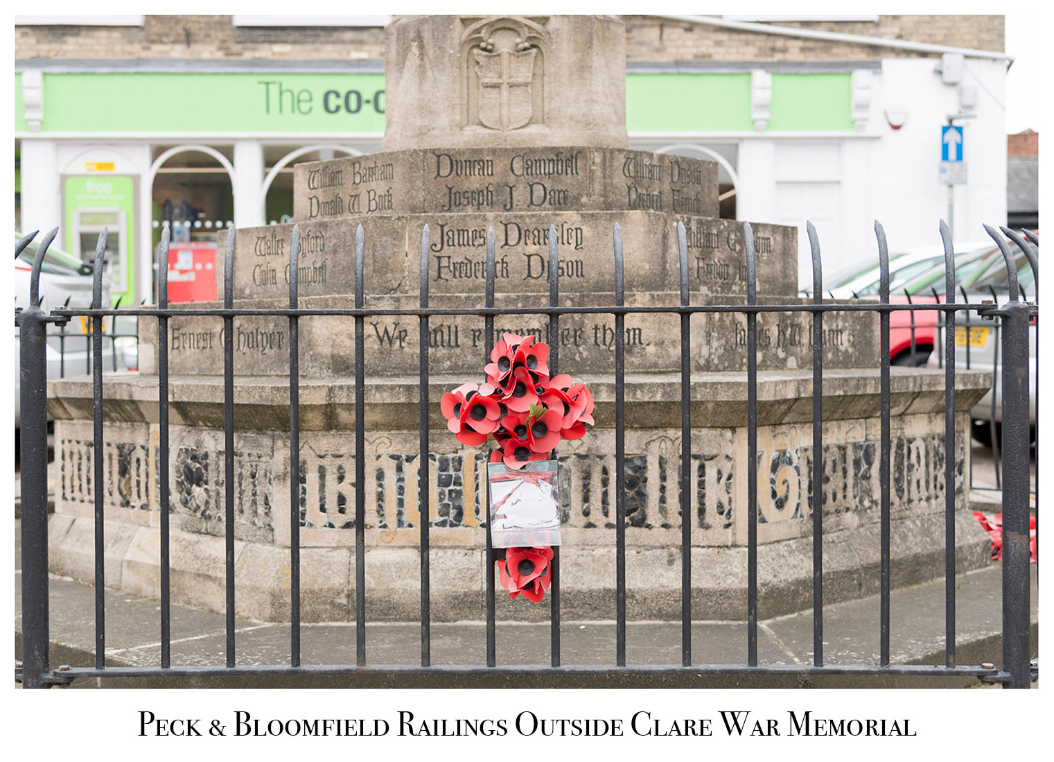 Peck and Bloomfield Railings, Clare War Memorial, Modern Day