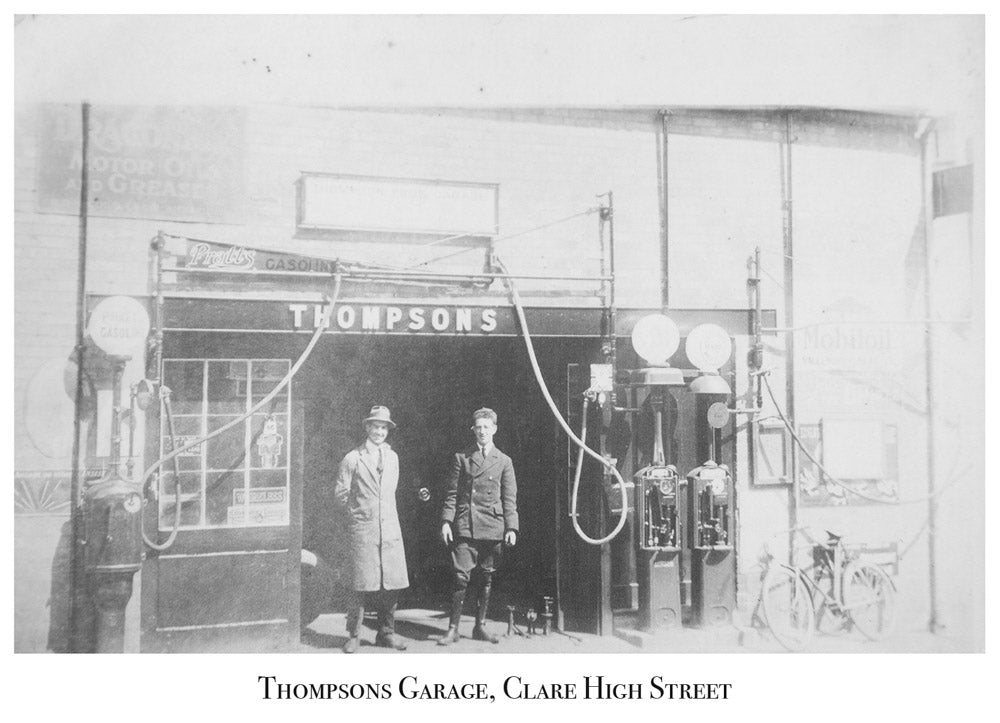 Thompsons Garage, Clare High Street, Old Picture