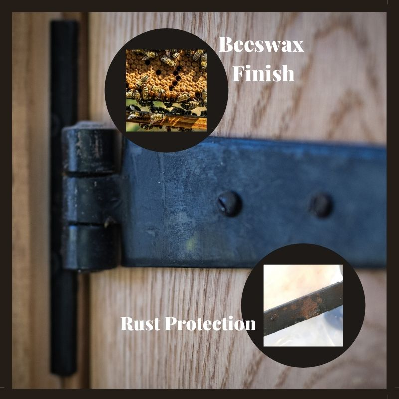 Black Beeswax Finish on Door Furniture