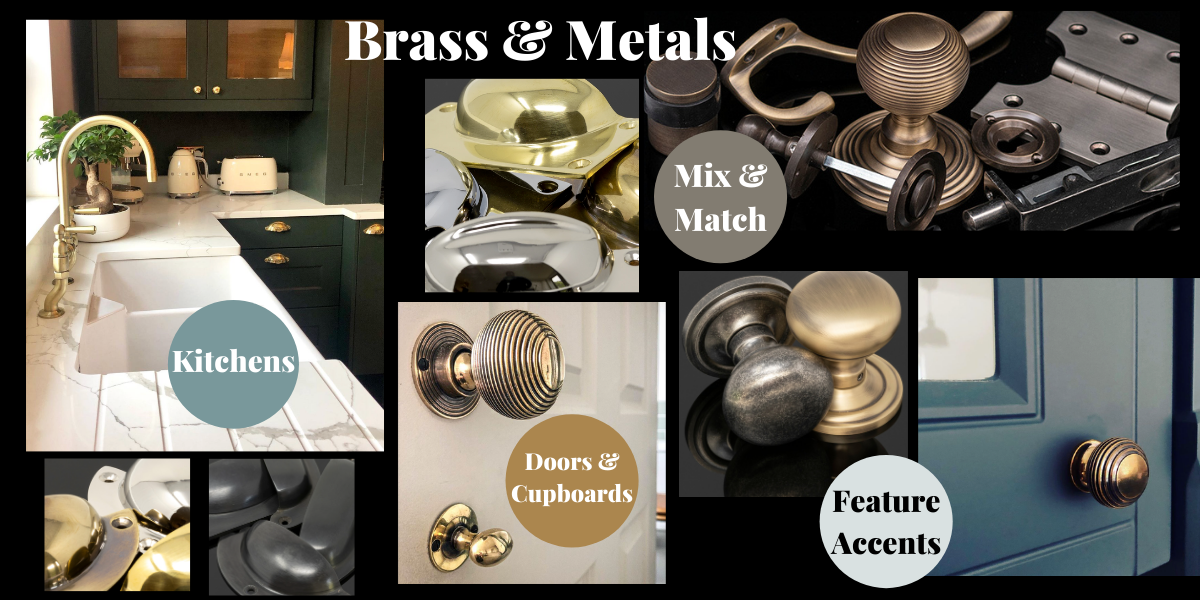 Brass and metals interior trend 2021