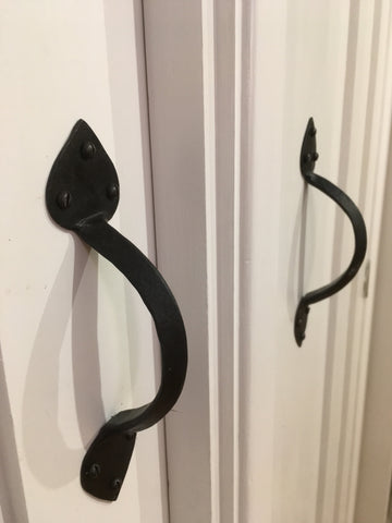 arrow end hand forged pull handles