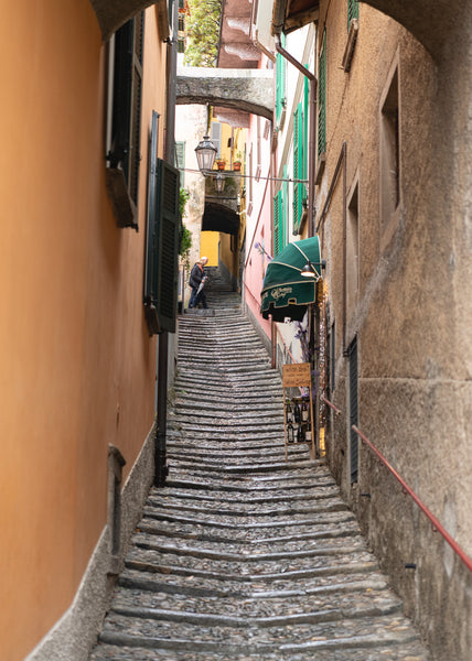 Cobbled alley in Varenna Lake Como