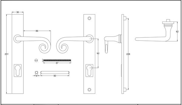 Curl Lever Handle Multi Point Lock