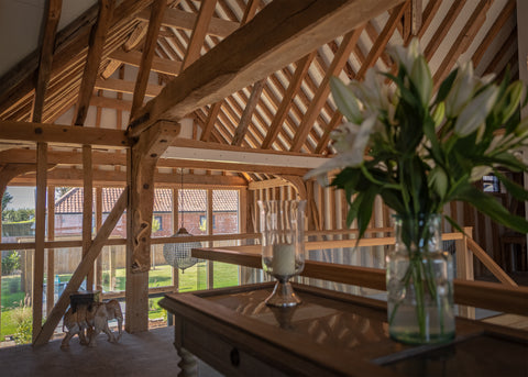 The Hayloft barn conversion interior view