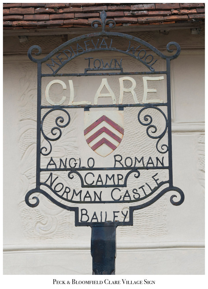 Peck and Bloomfield, Clare Village Sign, Modern Day