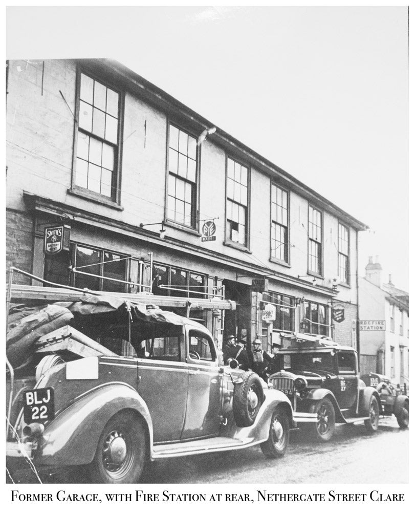 Former Garage, FIre Station At Rear, Nethergate Street, Clare, Old Photograph