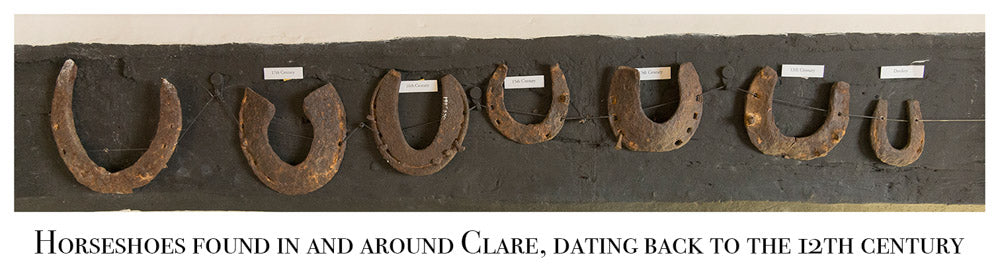 Horseshoes in Clare, Ancient House Museum, Clare.