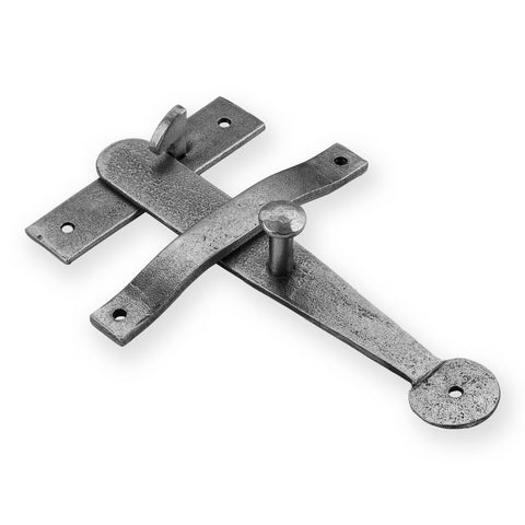 Latch Set with Screw on Keeper in pewter