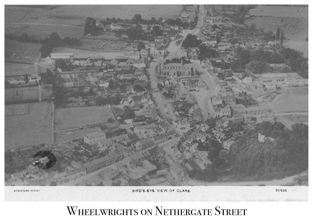 Nethergate Street Clare, Wheelrights, Ariel View, Old Photo