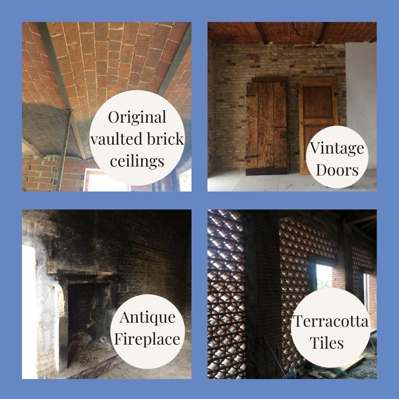 Period features in Italian barn renovation