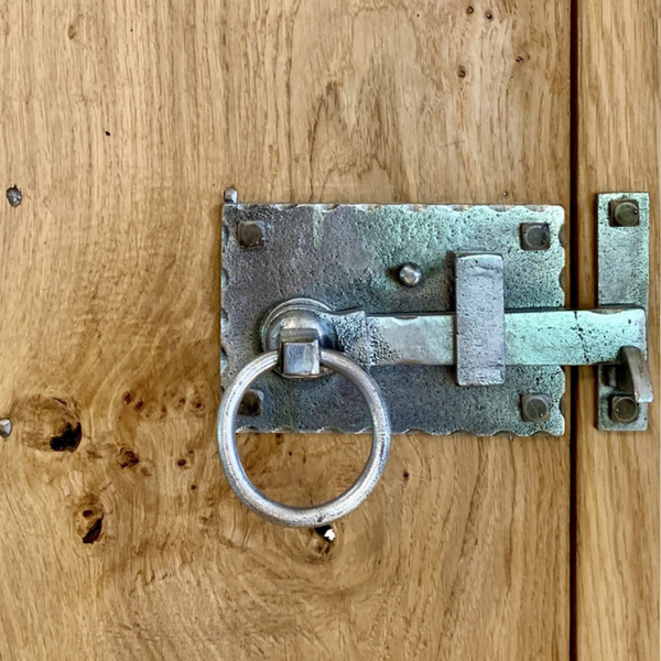 Hand Forged Cottage Latch Pewter Finish