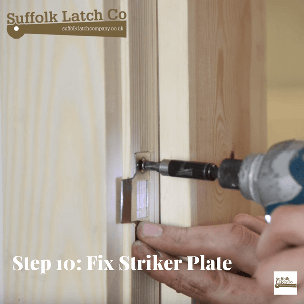 how to fit a tubular latch step 10