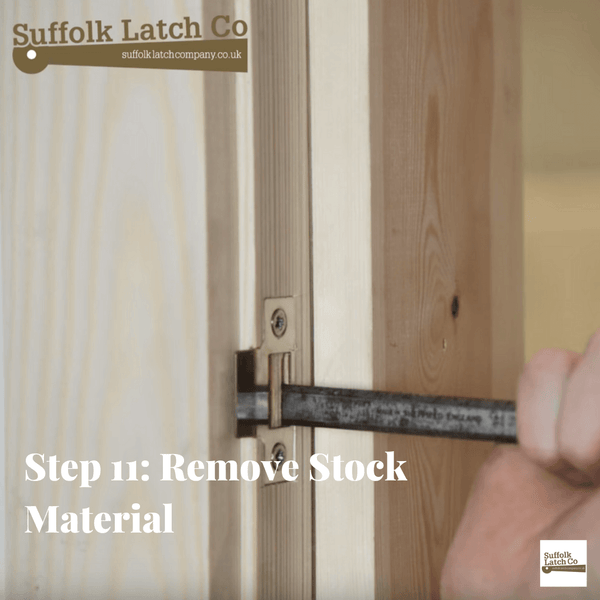 How to fit a tubular latch step 11