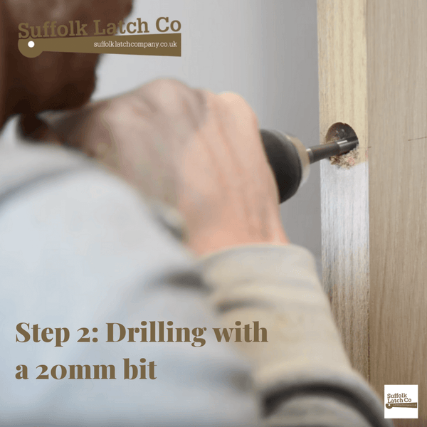 How to fit a tubular latch step 2