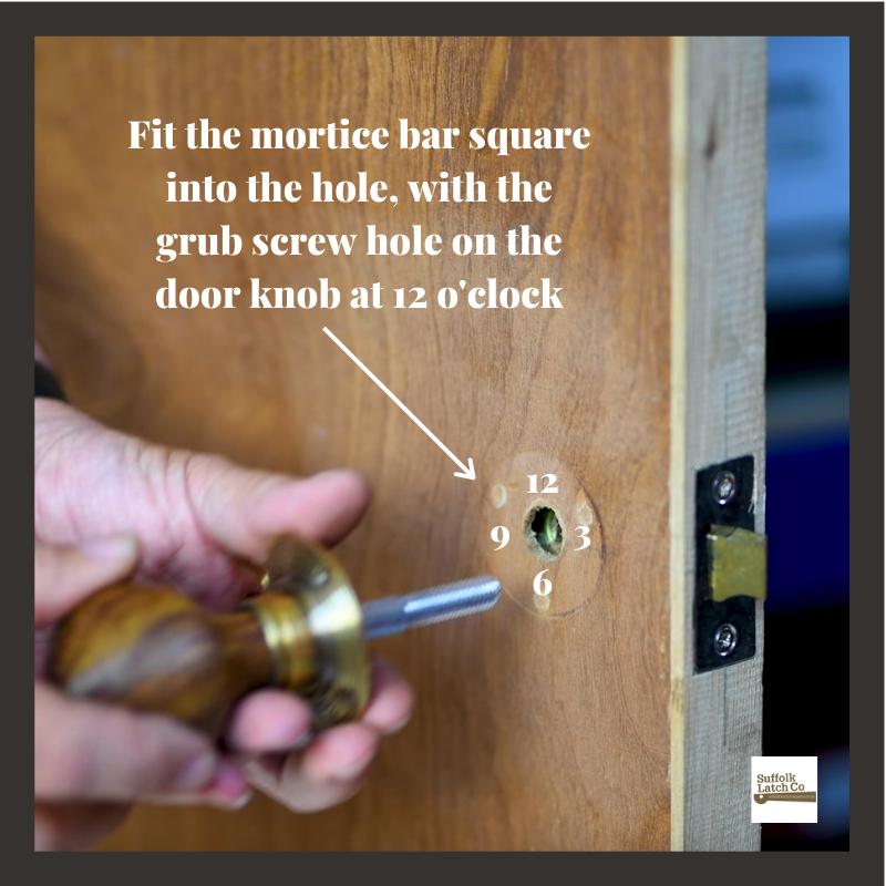 Step 3 essential tips for fitting a beehive door knob