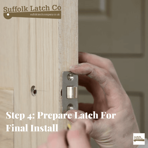 How to fit a tubular latch step 4