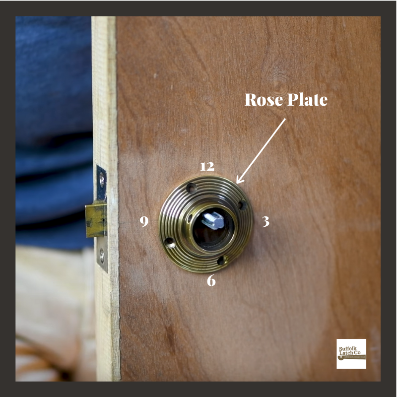 Step 4 tips for fitting a beehive door knob