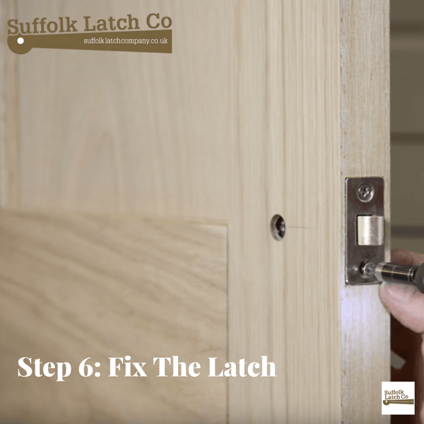 How to fit a tubular latch step 6