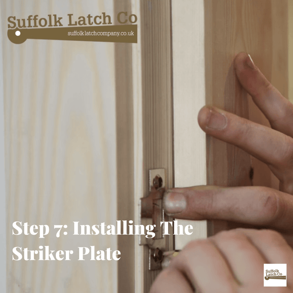 How to fit a tubular latch step 7