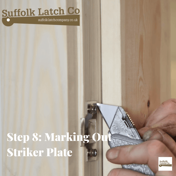How to fit a tubular latch step 8