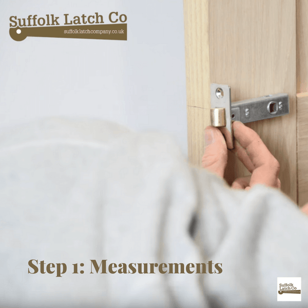 How to fit a tubular latch Step 1