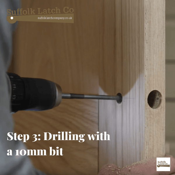 How to fit a tubular latch step 3