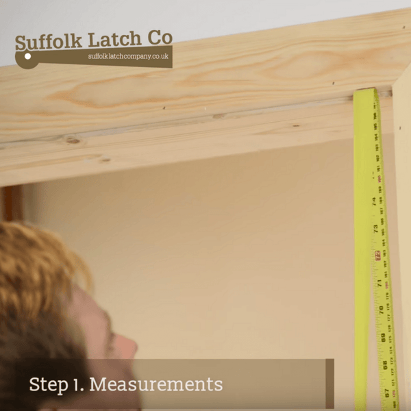 How to hang a door, step one, taking measurements