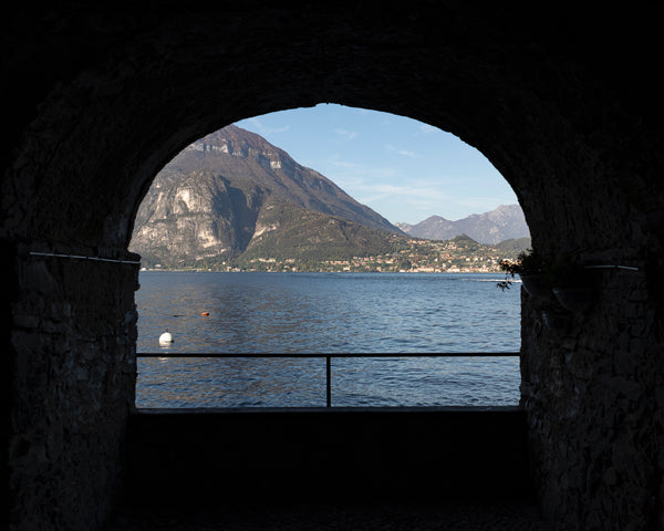 View of Lake Como through arch