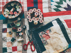 patchwork and cotton thread