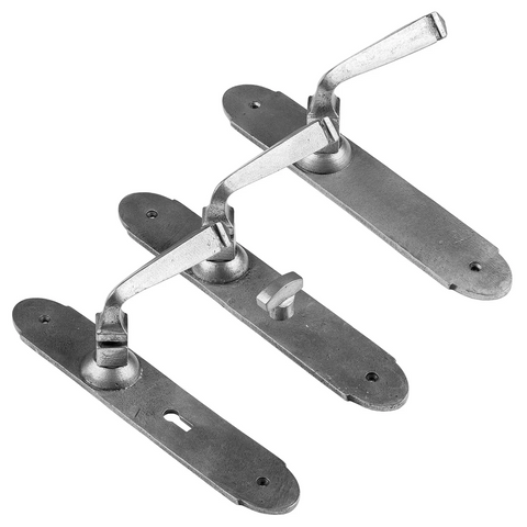 Gothic lever handles pewter