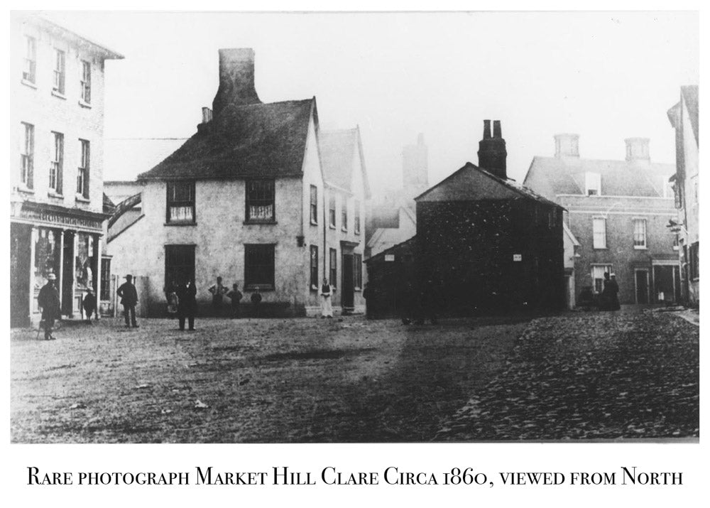 Market Hill Clare, 1860's, Old Rare Photograph