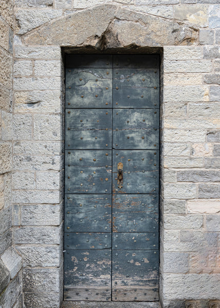 Studs in ancient door Varenna Lake Como
