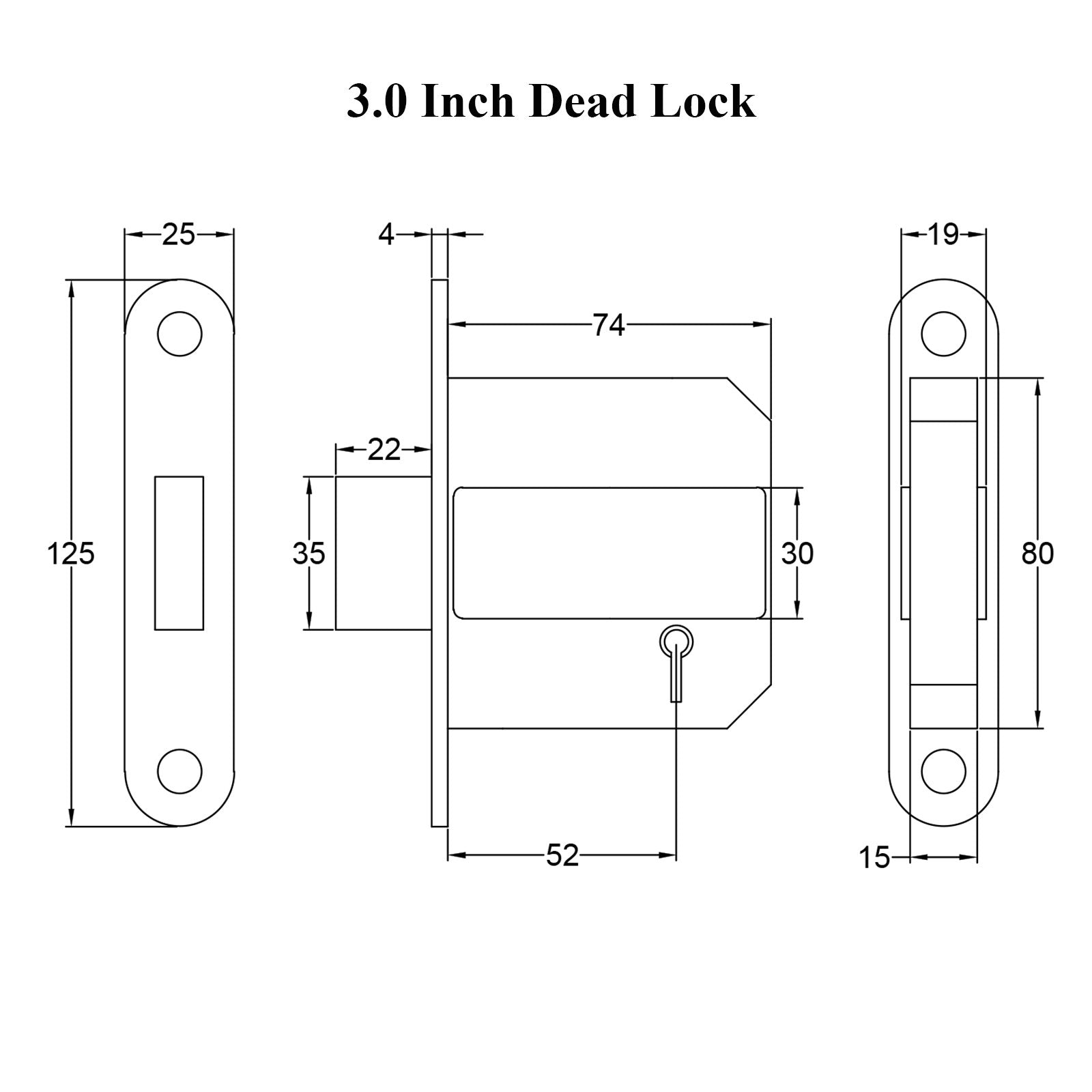3 inch deadlock drawing with dimensions SHOW