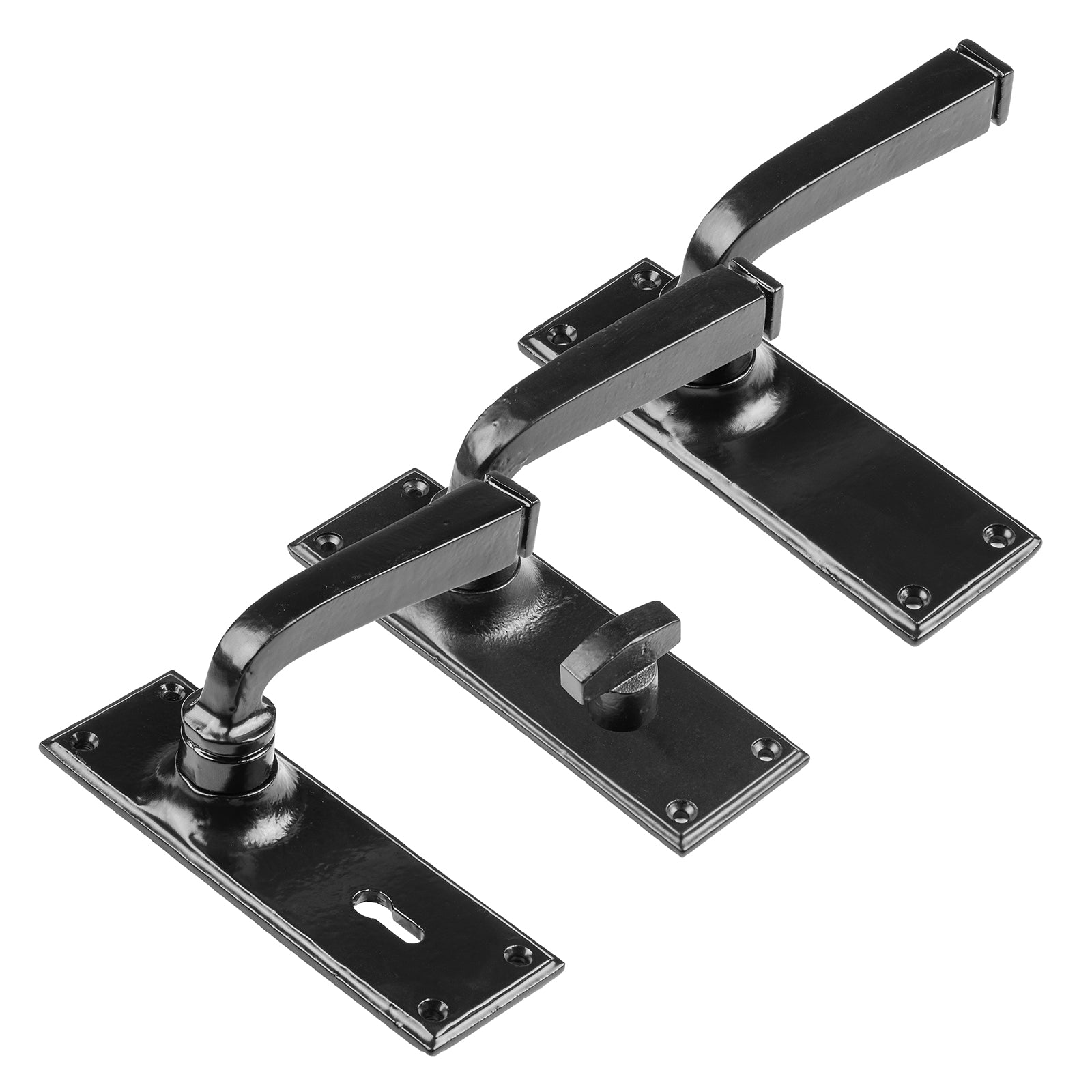 black lever door handles, Avon Lever Handles Black lock latch bathroom