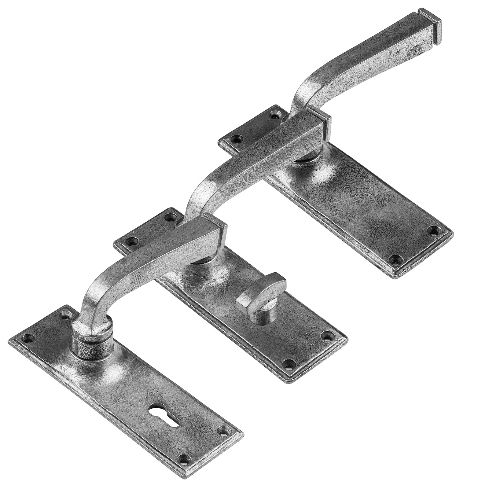 pewter internal door handles, Avon Lever Handles in pewter