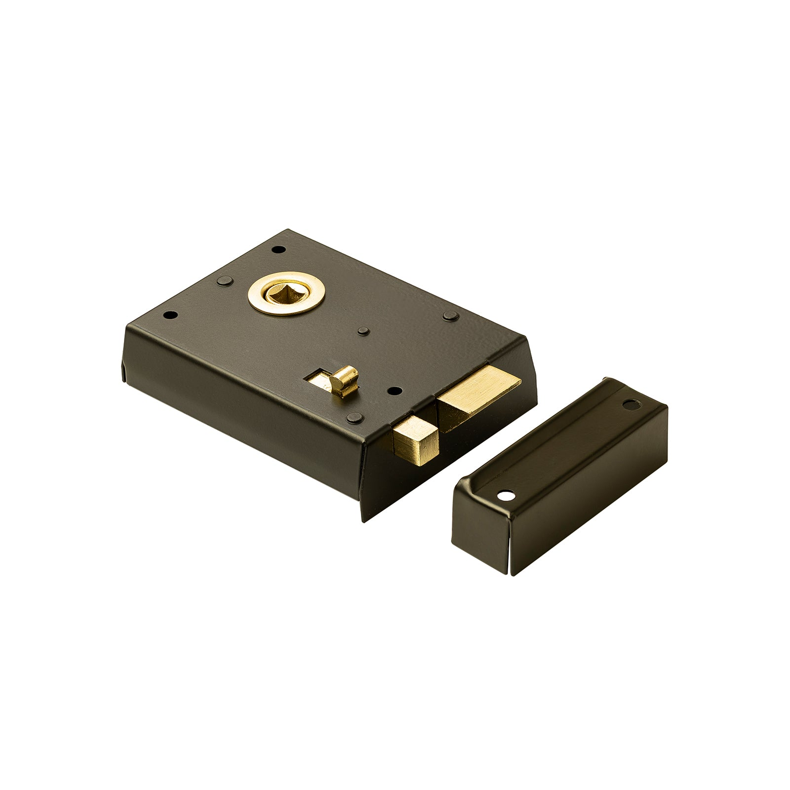 Black Surface Mounted Bathroom Rim Lock Brass Fittings