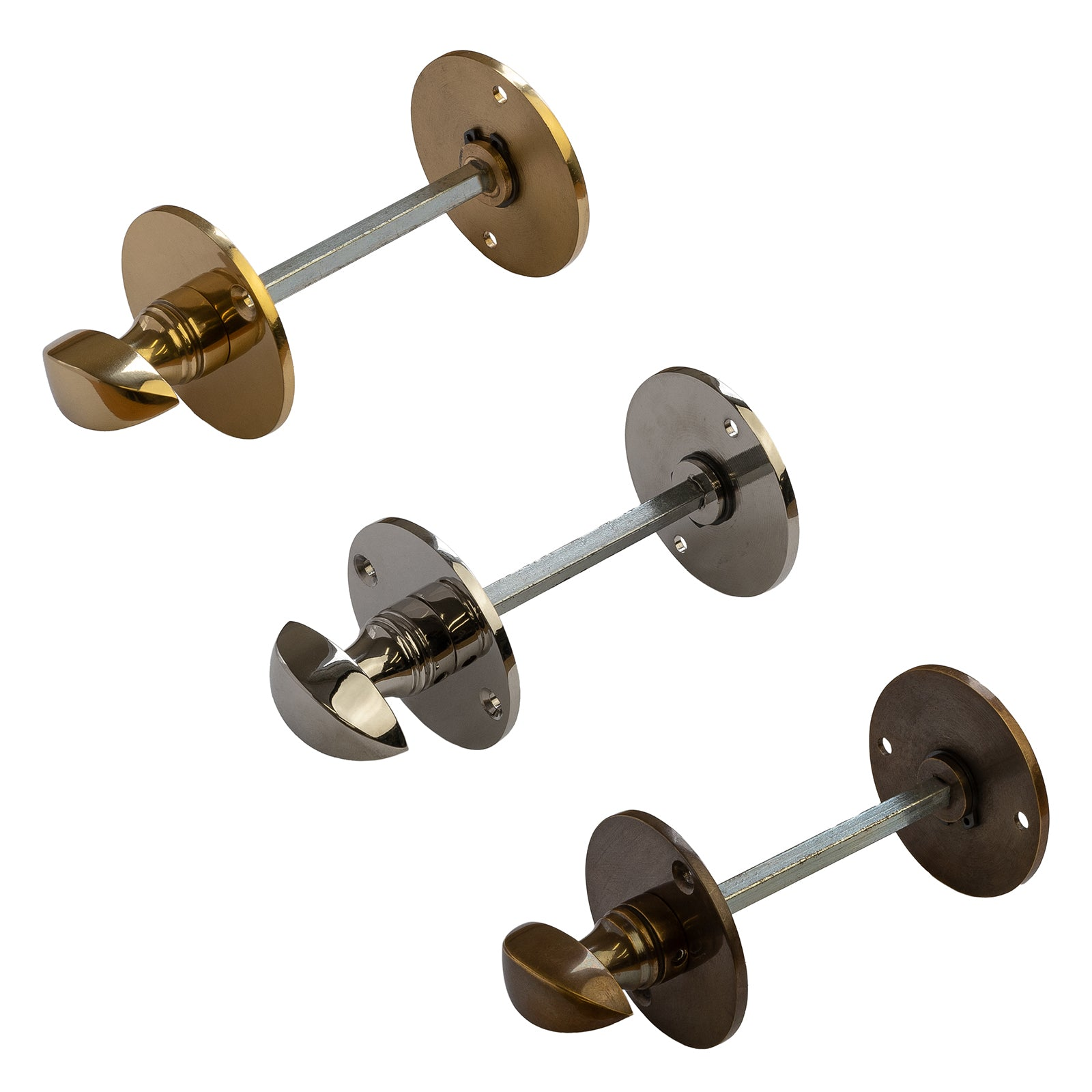 Bathroom Turn & Release with Smooth Finish in Brass, Nickel and Bronze Finishes