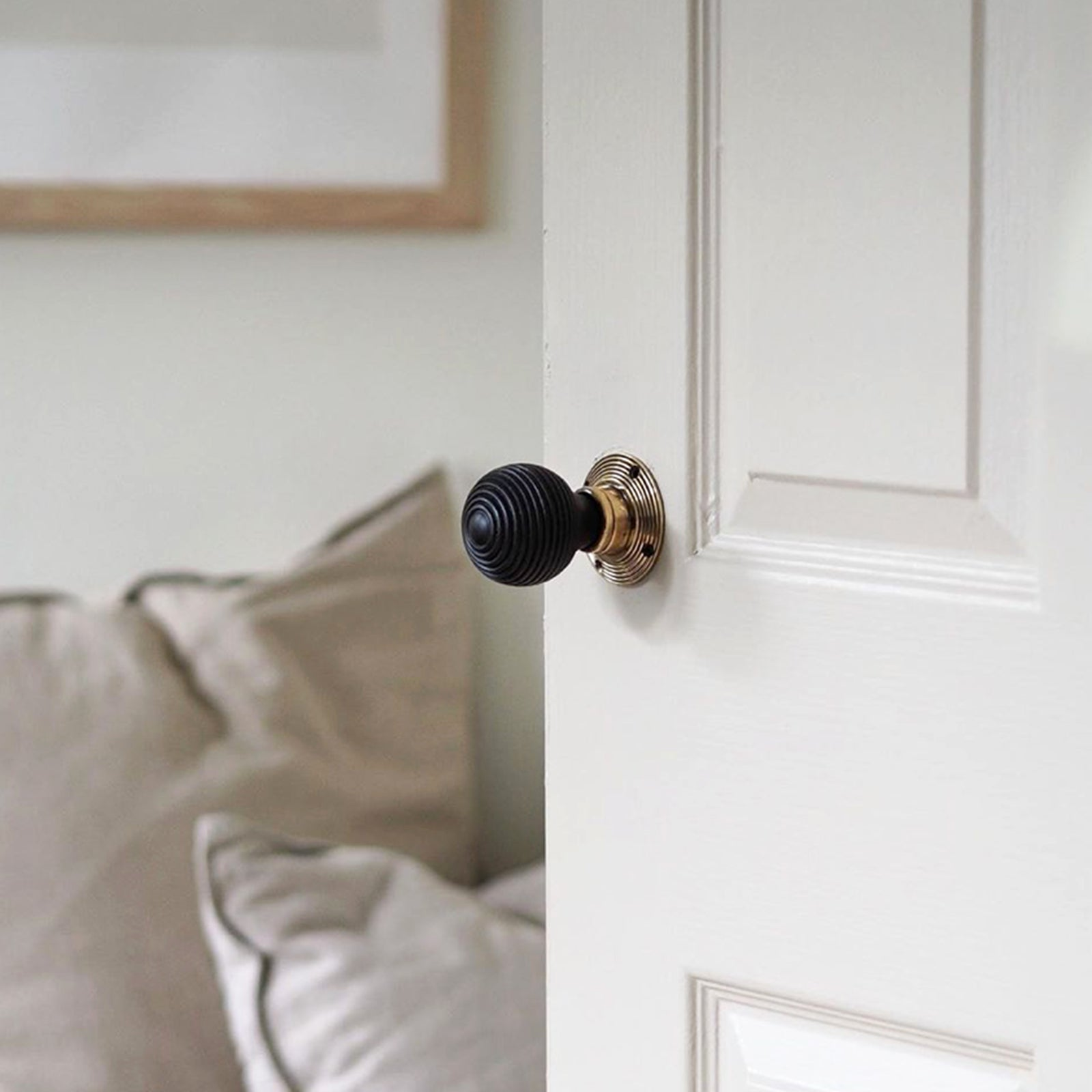 Door with ebonised beehive door knob SHOW
